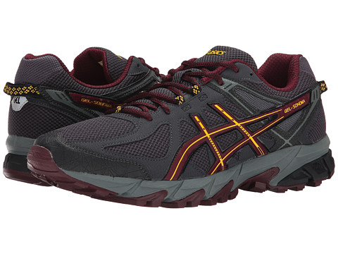 ASICS - GEL-Sonoma (Dark Grey/Royal Burgandy/Yellow) Men's Running Shoes