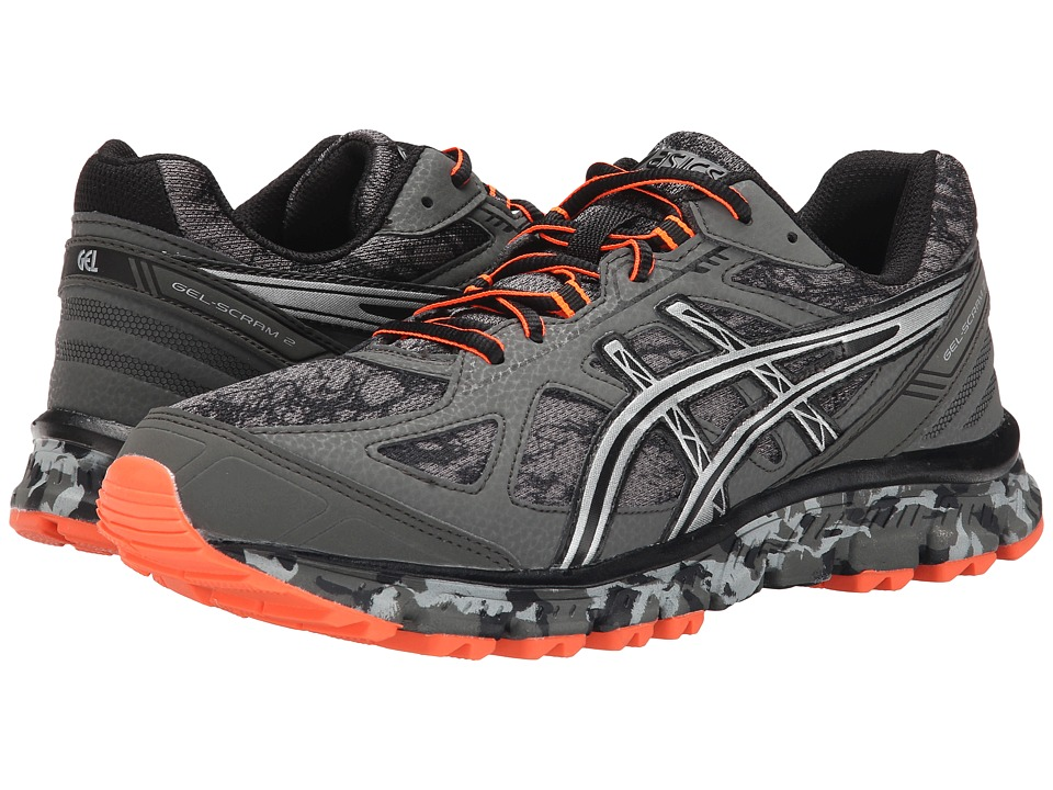 ASICS - GEL-Scram 2 (Gunmetal/Silver/Shocking Orange) Men's Running Shoes