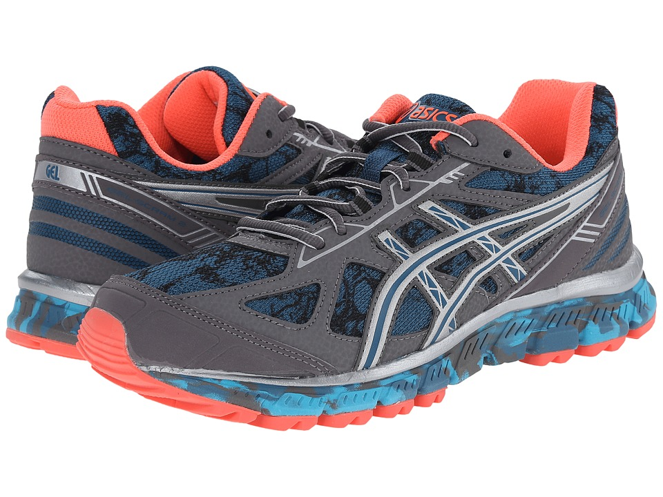 ASICS - GEL-Scram 2 (Mosaic Blue/Silver/Living Coral) Women's Running Shoes