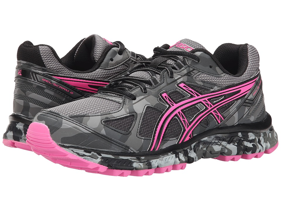 ASICS - GEL-Scram 2 (Titanium/Hot Pink/Black) Women's Running Shoes