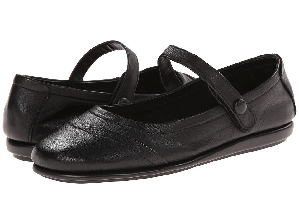 Aerosoles - Solar Eclipse (Black Leather) Women's Slip on Shoes