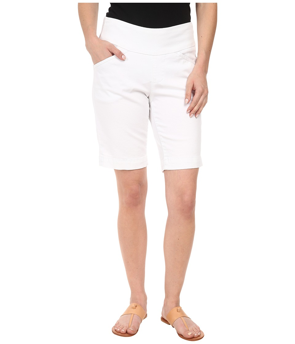 Jag Jeans Petite - Petite Ainsley Pull-On Classic Fit Bermuda Bay Twill (White) Women's Shorts