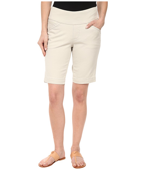 Jag Jeans Petite - Petite Ainsley Pull-On Classic Fit Bermuda Bay Twill (Stone) Women's Shorts