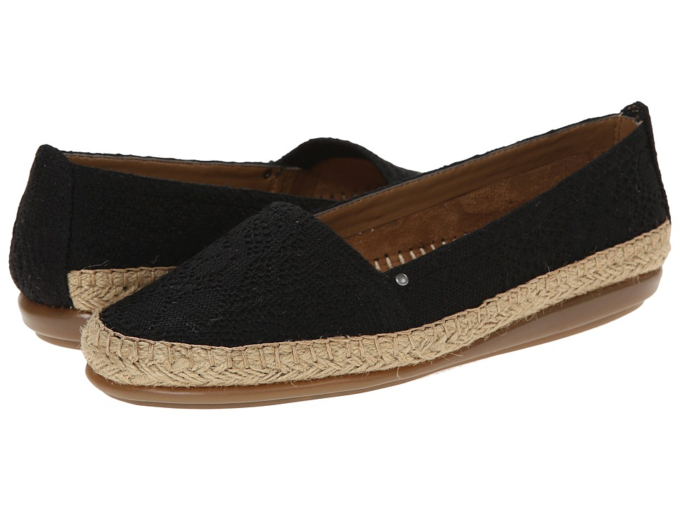 Aerosoles - Solitaire (Black Eyelet) Women's Slip on Shoes