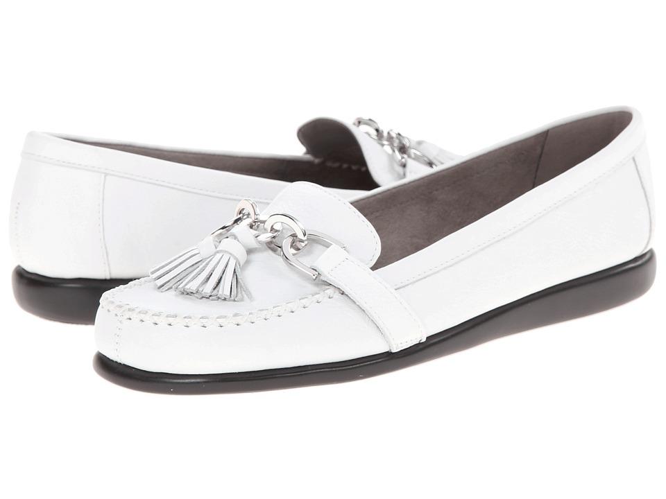 Aerosoles - Super Soft (White Leather) Women's Slip on Shoes