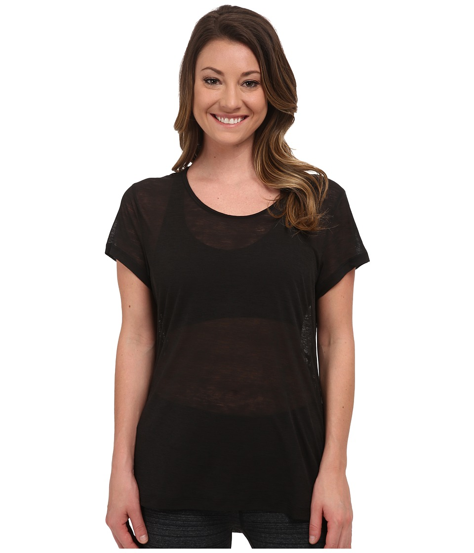 Lucy - Girls Best Friend Burnout Short Sleeve Tee (Lucy Black) Women's Short Sleeve Pullover
