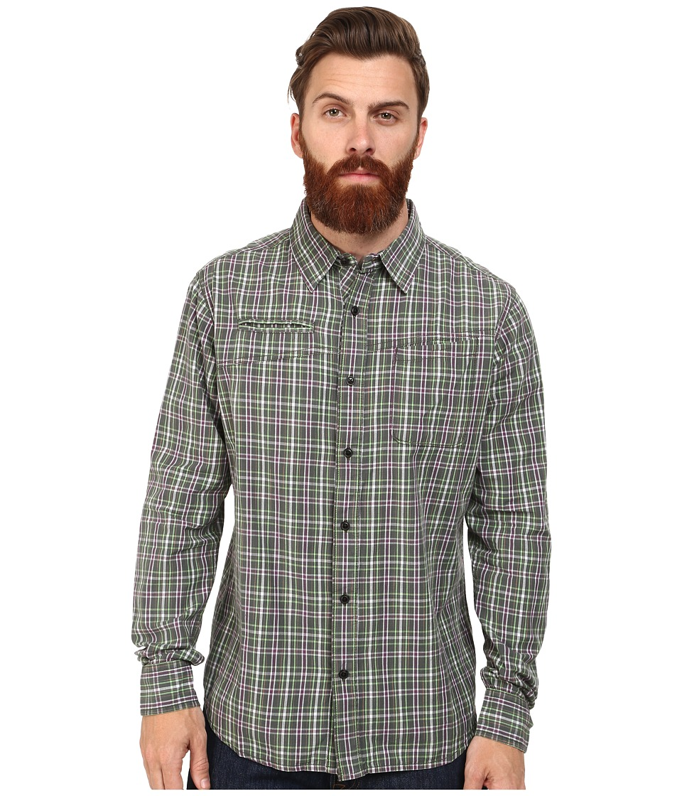 Macbeth - Barker Long Sleeve Woven (Green) Men's Long Sleeve Button Up
