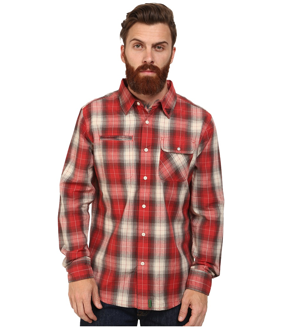 Macbeth - Hawkins Long Sleeve Woven (Red) Men's Long Sleeve Button Up