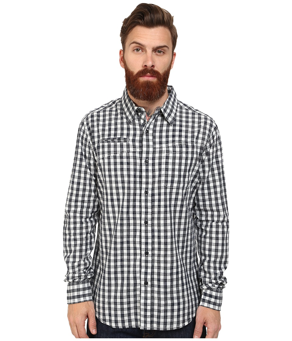Macbeth - Barker Long Sleeve Woven (Navy) Men's Long Sleeve Button Up