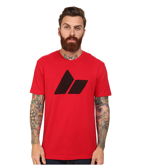 Macbeth - Classic Logo Tee (Red/Black) Men's T Shirt