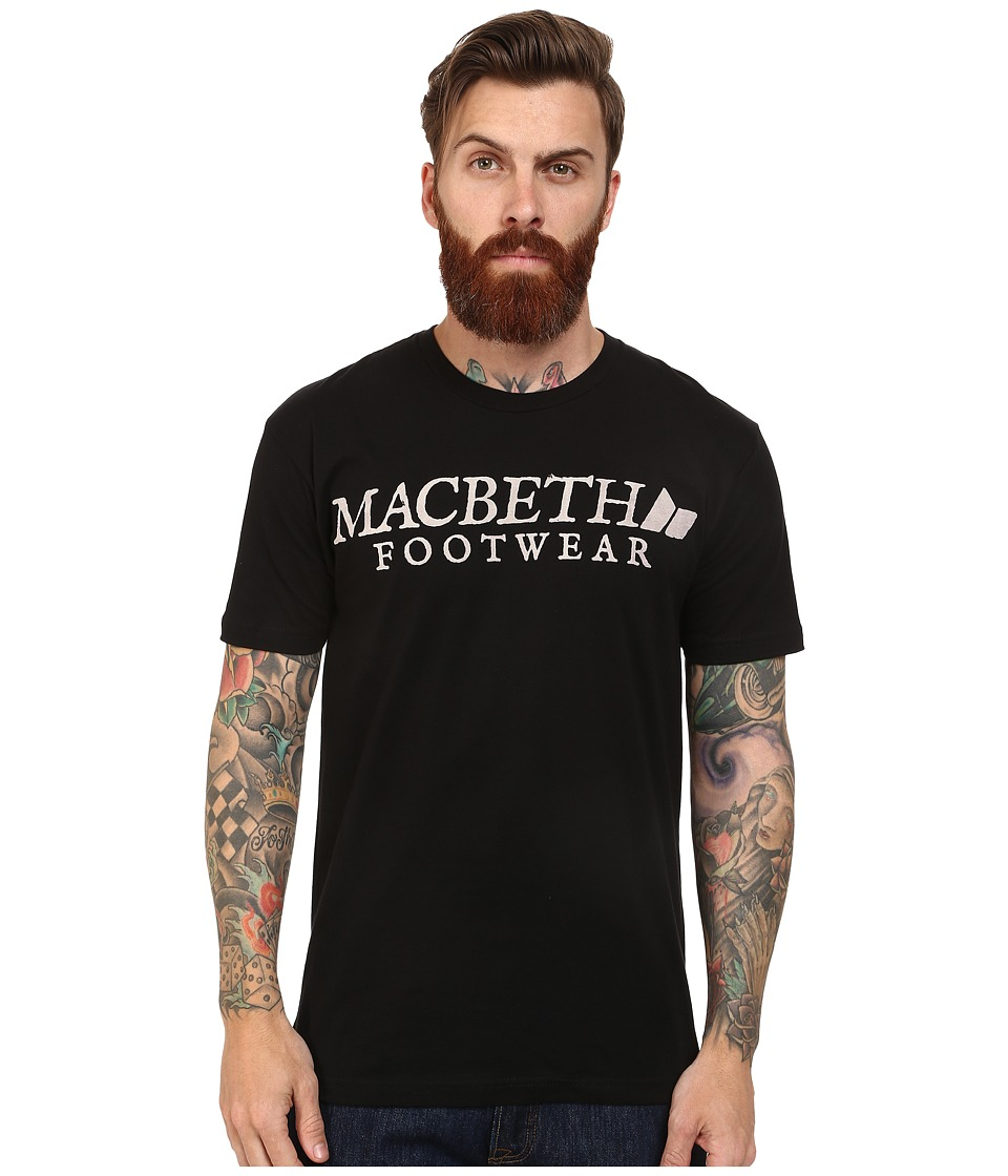 Macbeth - Vintage Logo Tee (Black) Men's T Shirt