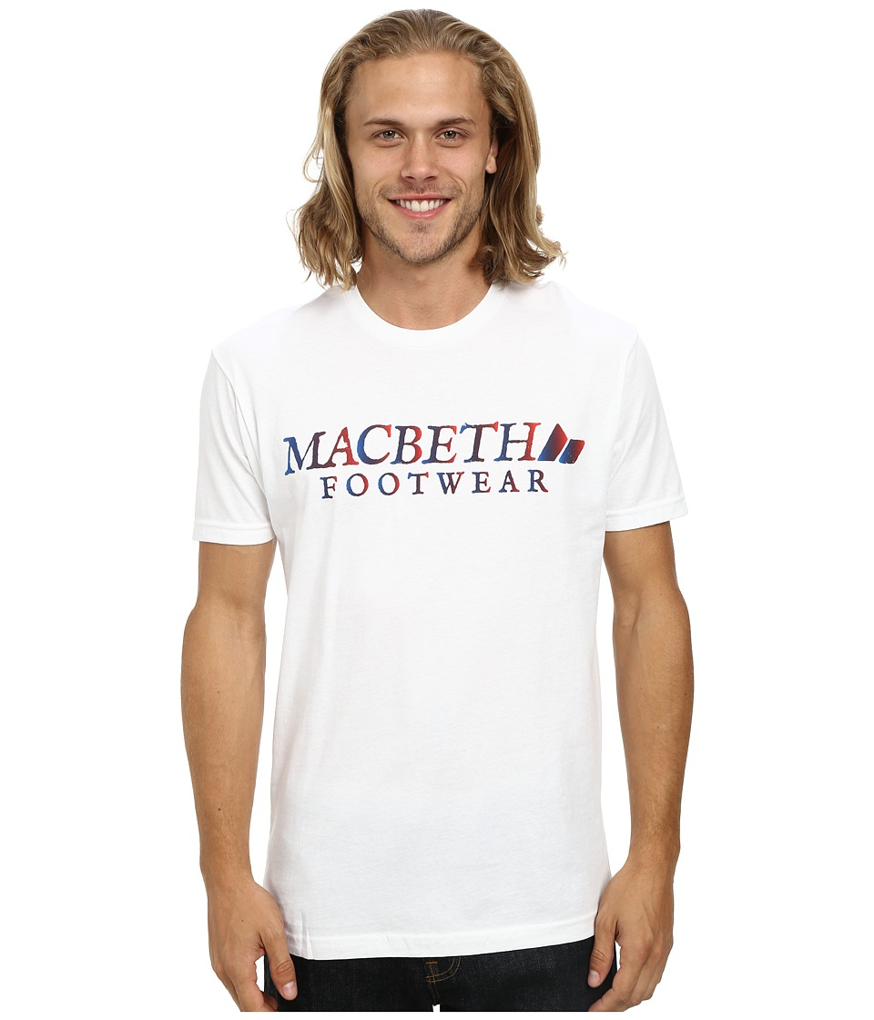 Macbeth - Vintage Logo Tee (White/Gradient) Men