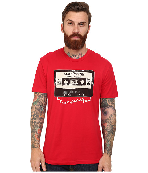 Macbeth - Cassette Tee (Red/Black) Men