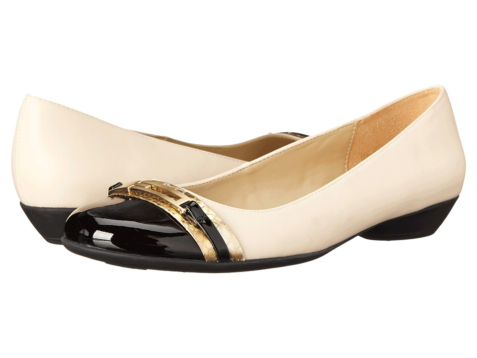 Naturalizer - Helina (Ivory Smooth/Gold Printed Snake) Women's Shoes