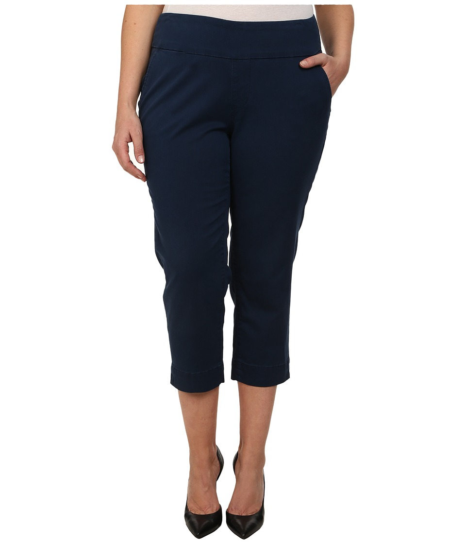 Jag Jeans Plus Size - Plus Size Hope Crop Narrow Fit Bay Twill (True Navy) Women's Capri
