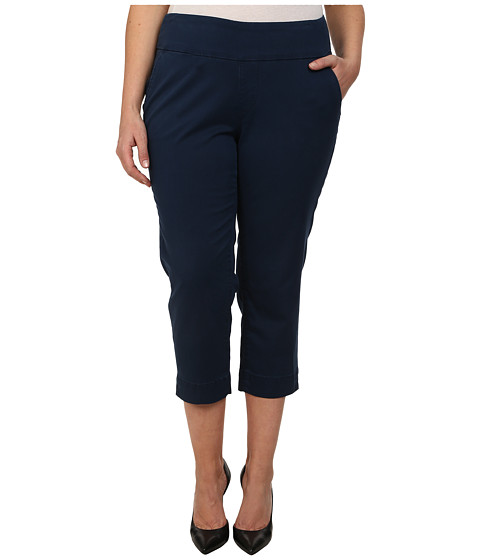 Jag Jeans Plus Size - Plus Size Hope Crop Narrow Fit Bay Twill (True Navy) Women