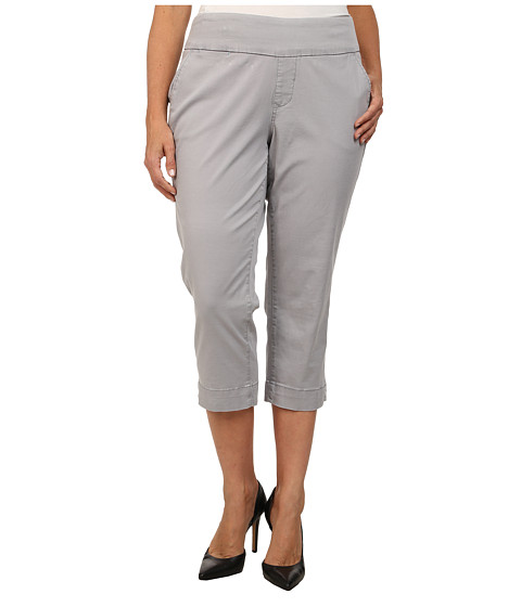 Jag Jeans Plus Size - Plus Size Hope Crop Narrow Fit Bay Twill (Grey Morn) Women's Capri