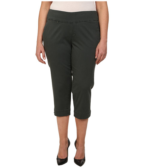 Jag Jeans Plus Size - Plus Size Hope Crop Narrow Fit Bay Twill (Soapstone) Women's Capri