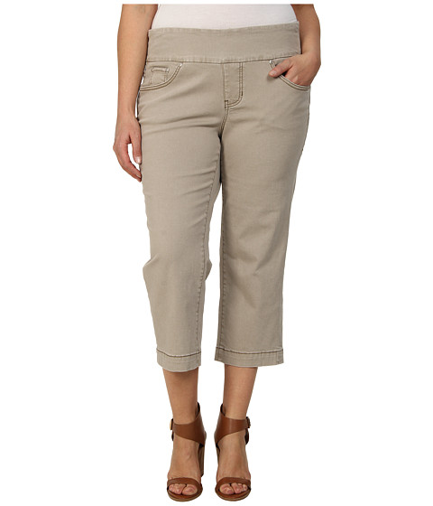 Jag Jeans Plus Size - Plus Caley Pull-On Crop Classic Fit in Stucco (Stucco) Women's Jeans