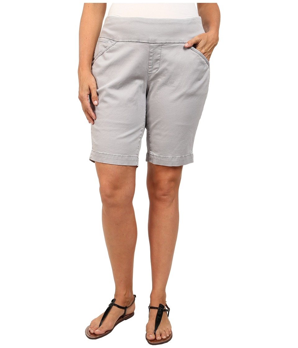 Jag Jeans Plus Size - Plus Size Ainsley Classic Fit Bermuda in Bay Twill (Grey Morn) Women's Shorts