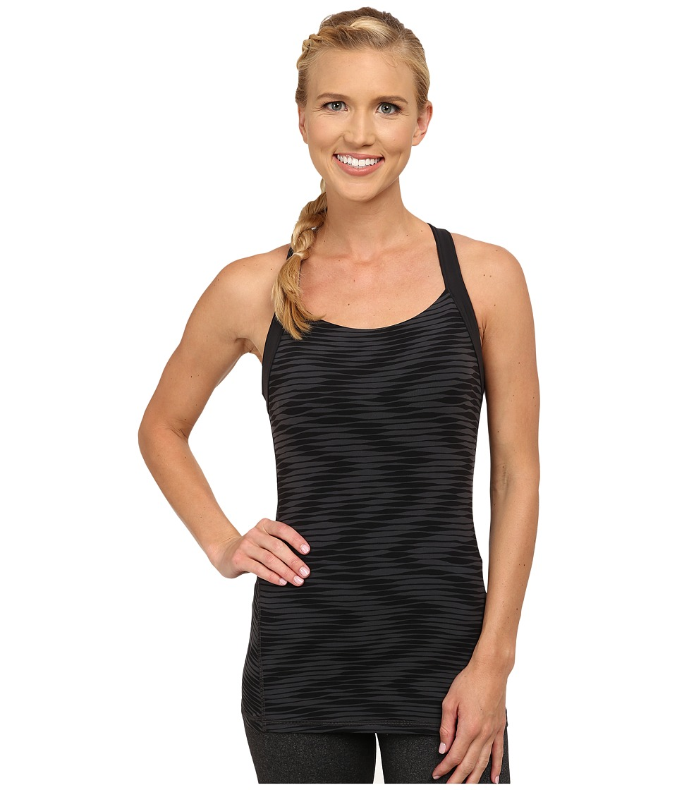 Lucy - Crossback Tank (Fossil Ikat Wave Print) Women's Sleeveless