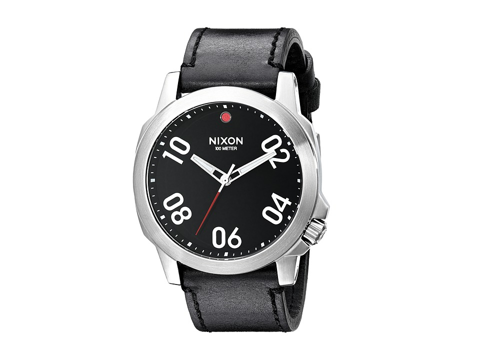 Nixon - Ranger 45 Leather (Black/Red) Watches