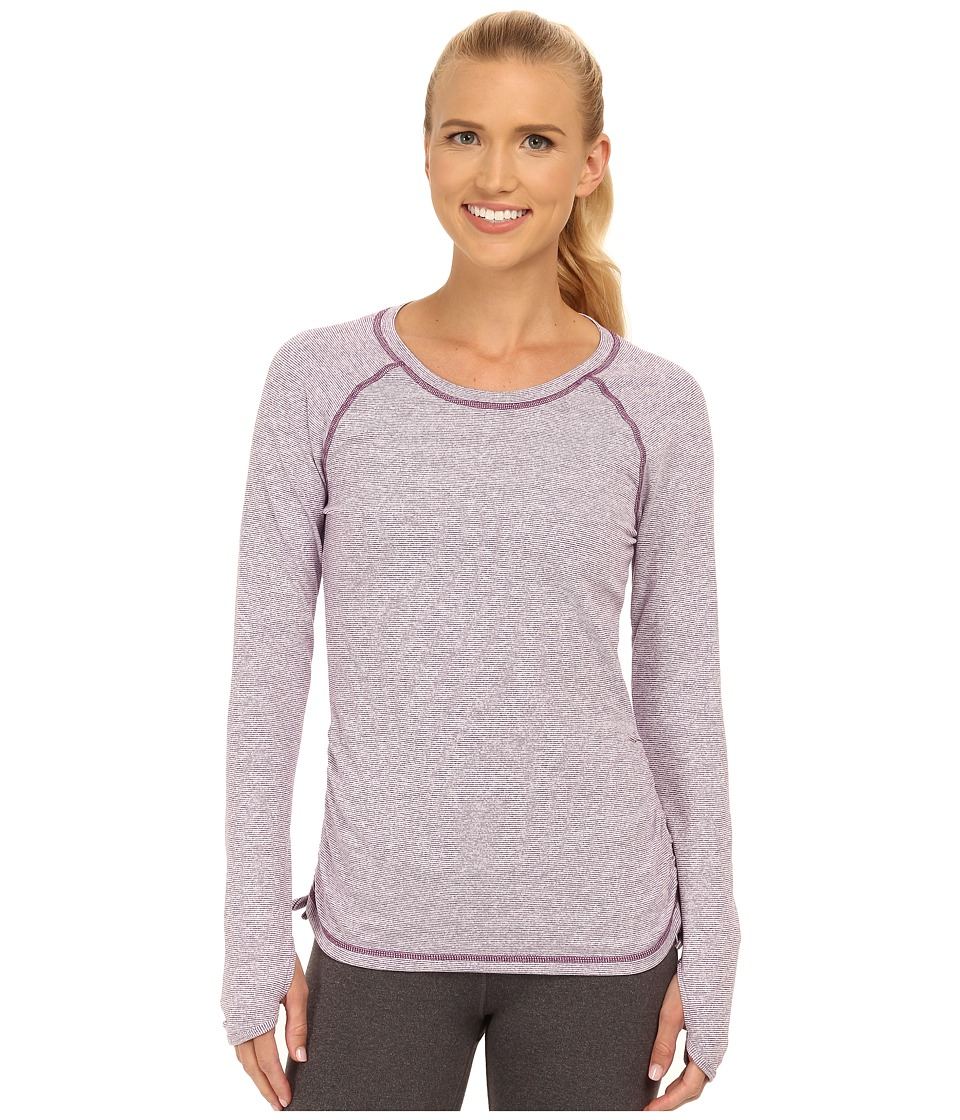 Lucy - Dashing Stripes L/S Top (Purple Orchid Stripe) Women