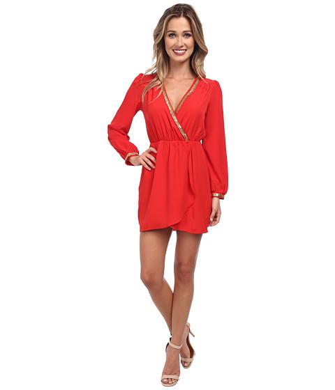 Brigitte Bailey - Demri Dress (Red/Gold Trim) Women's Dress