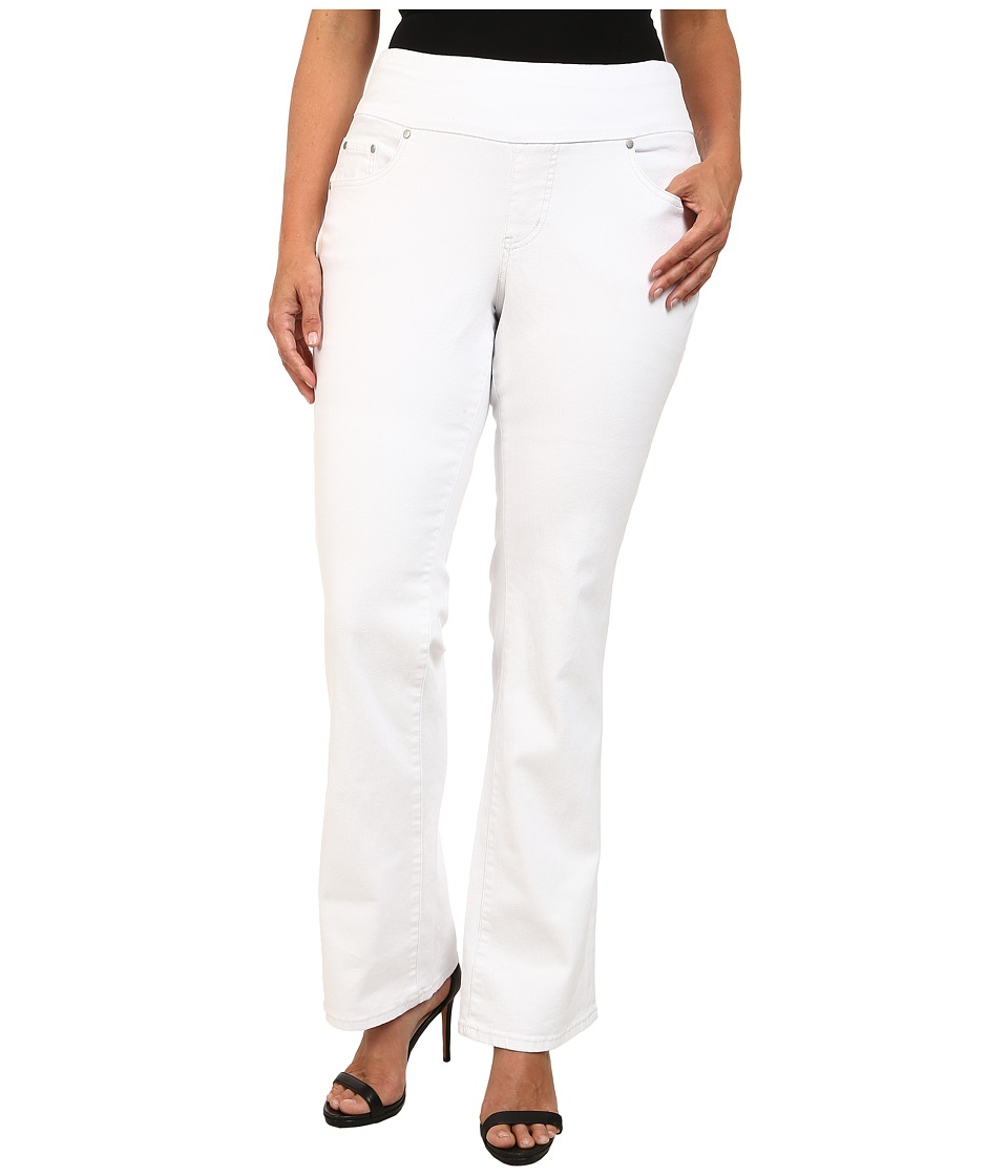 Jag Jeans Plus Size - Plus Size Paley Boot Leg in White (White) Women