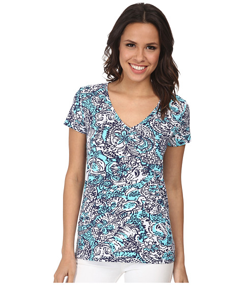 Lilly Pulitzer - Michele Top (Shorely Blue Hippy Hippy Sha) Women