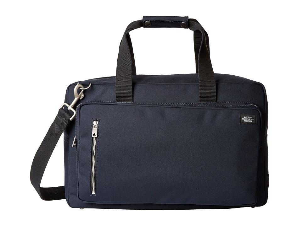 Jack Spade - Square Duffel (Navy) Duffel Bags