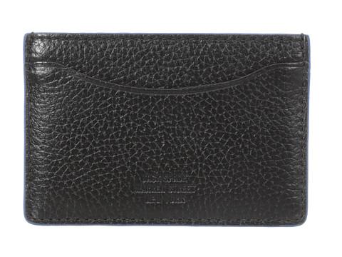 Jack Spade - Mason Leather Credit Card Holder (Black/Blue) Credit card Wallet