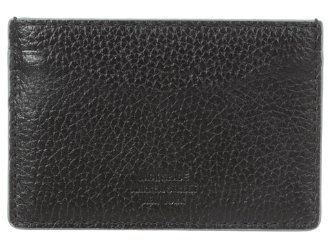 Jack Spade - Mason Leather Credit Card Holder (Black/Grey) Credit card Wallet