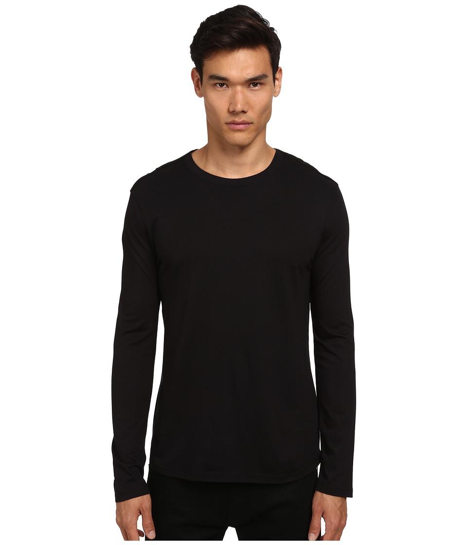 HELMUT LANG - Logo Jersey Long Sleeve Tee (Black) Men's T Shirt