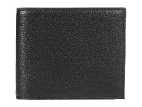 Jack Spade - Mason Leather Bill Holder (Black/Grey) Bill-fold Wallet