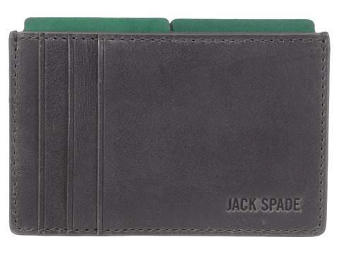 Jack Spade - Mitchell Leather File Wallet (Grey/Green) Wallet Handbags