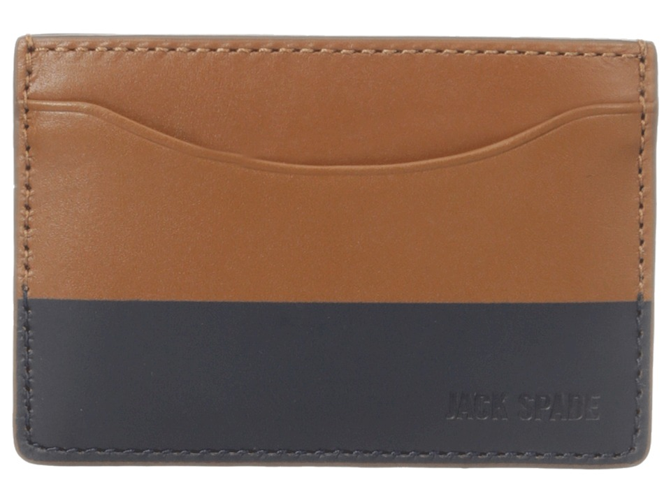 Jack Spade - Dipped Leather Credit Card Holder (Tobacco/Navy) Credit card Wallet