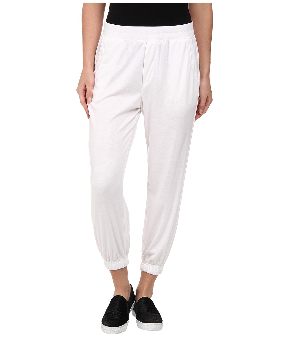 HUE - Chill Jersey Capri (White) Women's Casual Pants