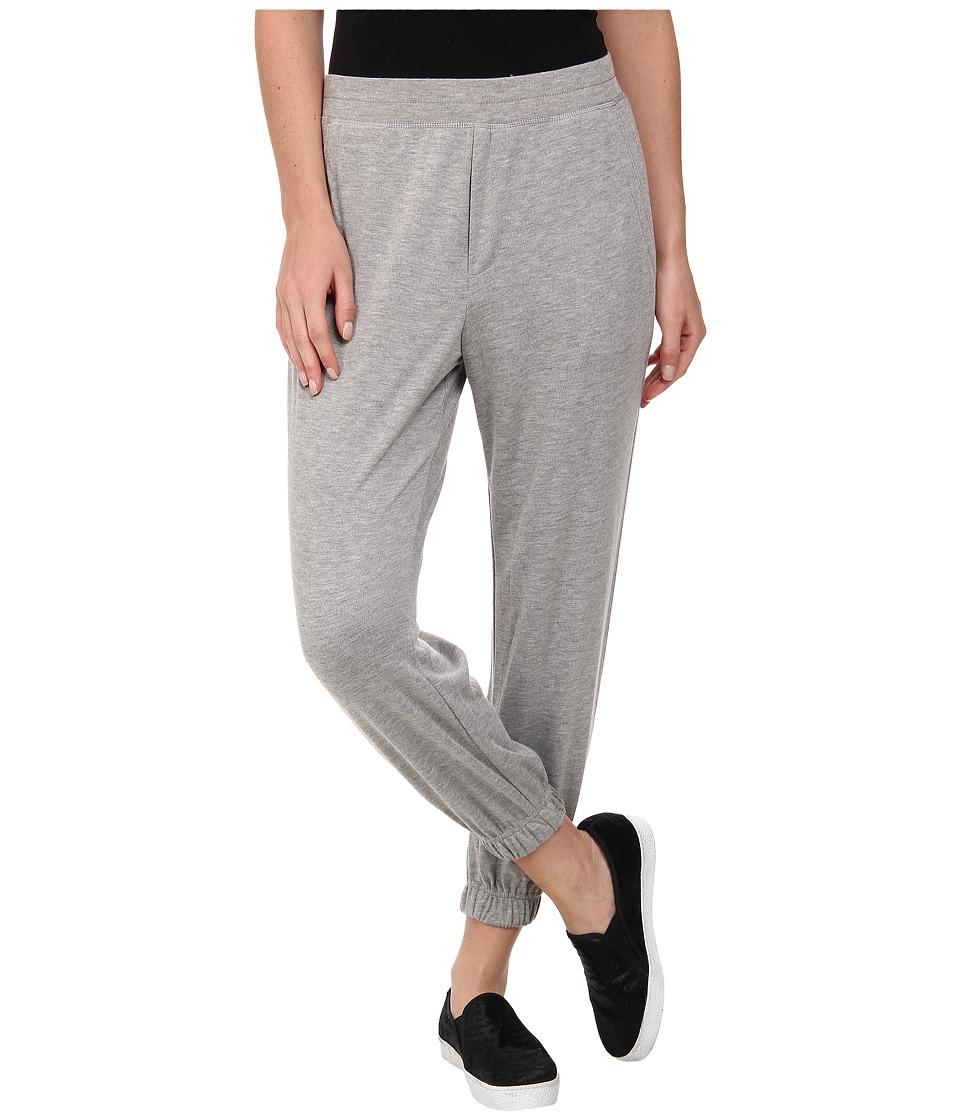 HUE - Chill Jersey Capri (Medium Heather Grey) Women