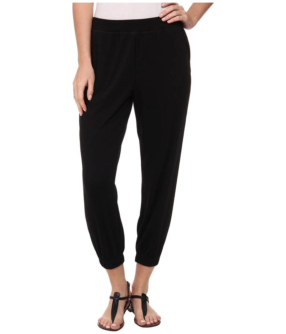 HUE - Chill Jersey Capri (Black) Women's Casual Pants