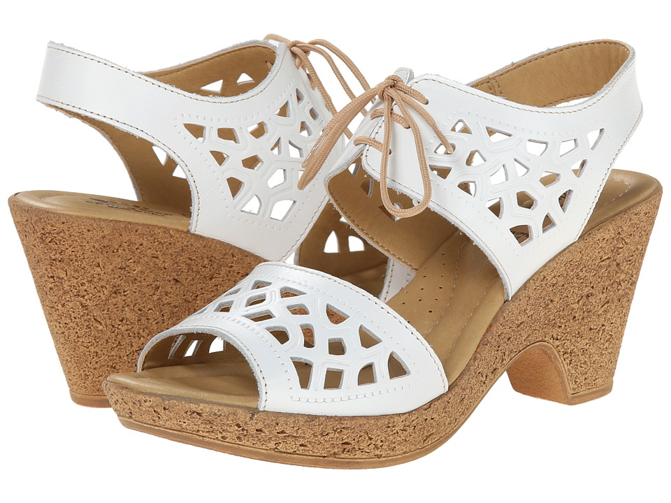 Spring Step - Lamay (White) Women's Wedge Shoes