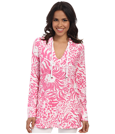 Lilly Pulitzer - Megan Tunic Hoodie (Resort White Get Spotted) Women's Blouse