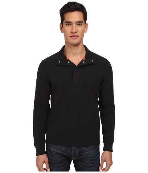 Jack Spade - Barstow Half-Snap Thermal (Black) Men's Long Sleeve Pullover