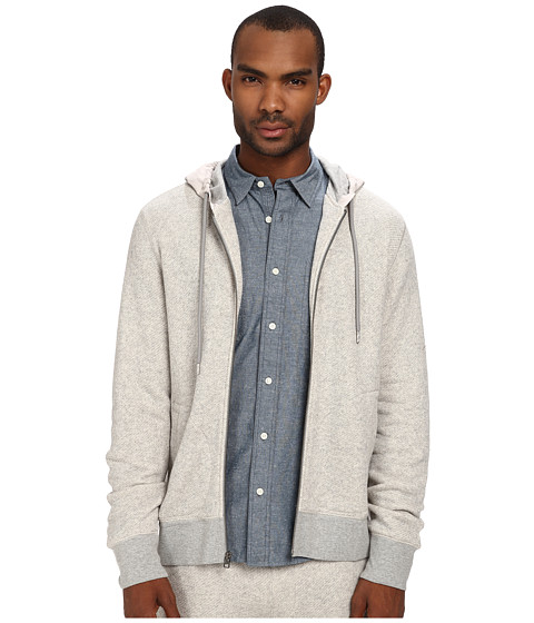 Jack Spade - Belford Full Zip Hoodie (Cement Heather Grey) Men