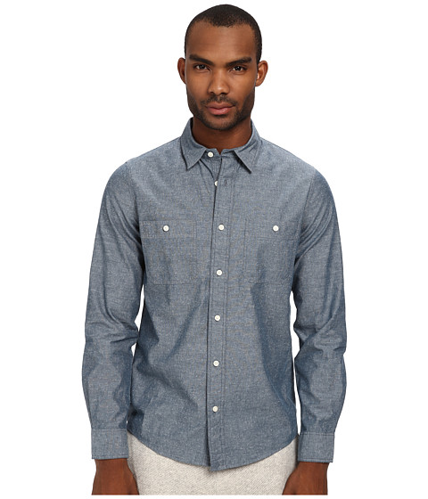Jack Spade - Polk Chambray Work Shirt (Indigo) Men's Clothing
