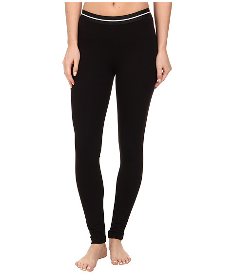 HUE - Cotton Skimmer w/ Elastic Waist (Black) Women