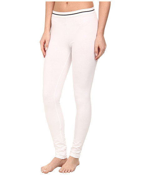 HUE - Cotton Skimmer w/ Elastic Waist (White) Women's Casual Pants