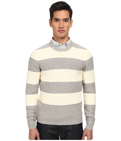Jack Spade - Bergen Striped Sweater (Off White Stripe) Men