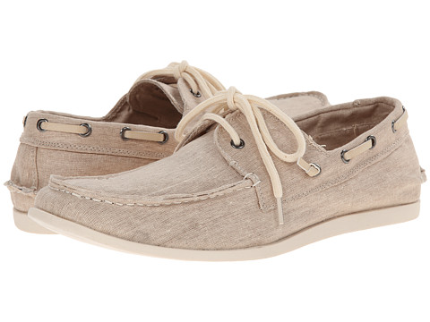 Steve Madden - Glide (Natural Fabric) Men's Slip on Shoes