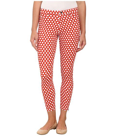 HUE - White Dot Printed Denim Skimmer (Fiery Red) Women